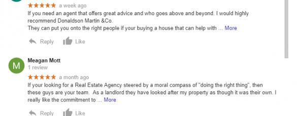 Donaldson Martin Google Review 1