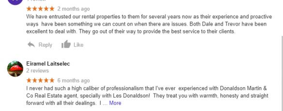 Donaldson Martin Google Review 2
